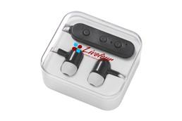 Bluetooth-Kopfhörer: Bluetooth-Kopfhörer mit Silikon-Ohrstöpseln. Für ausgehende Anrufe direkt in Kon