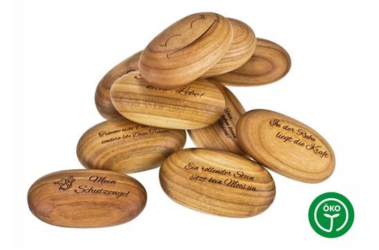 SOFT oval Handkuschler: Handkuschler oval aus Kirsche. Oberflächenbeschaffenheit: geölt. Made in Germany