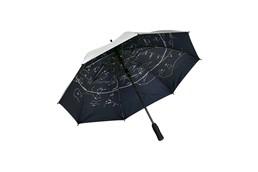 Regenschirm STARLIGHT:   Sturmregenschirm mit 190 T Nylonbespannung, automatischer Teleskopfeder, Gla