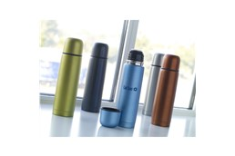 FROSTY Thermoflasche:   Rostfreie Edelstahl Thermoflasche mit doppeltem Schraubkopf und einen nützli
