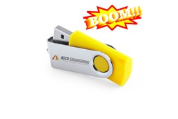 Atlantis USB-Stick, 4 GB:   Hochwertiger rotierender USB-Stick aus Kunststoff und Metall. Plug & play, p
