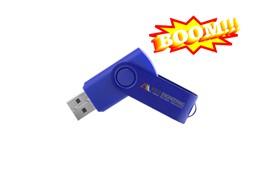 Venezia USB-Stick, 2 GB:   Hochwertiger rotierender USB-Stick aus Kunststoff und eingefärbtem Metall. P