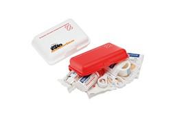 Mini-Verbandsbox: das Erste-Hilfe-Set für alle Fälle. 22-teilig: 12 Pflaster, 1 Heftpflaster, 1 Pa