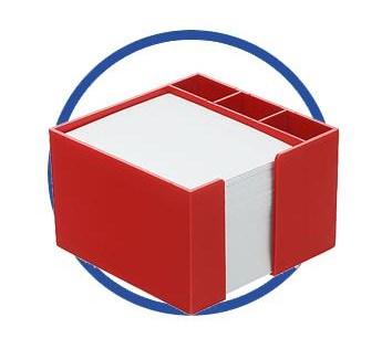 Zettelboxen mit Papier