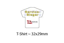 Display Cleaner T-Shirt 32 x 29 mm:   Zum Reinigen der Displays von Smartphones geeignet! Kann auf der Rückseite b