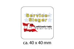 Display Cleaner rechteckig 40 x 40 mm:   Zum Reinigen der Displays von Smartphones geeignet! Kann auf der Rückseite b