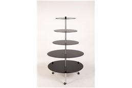 ExpoMax 360 - 5 Acrylplatten: Das schnellste Display der Welt im eleganten Design mit 5 runden Platten für ein