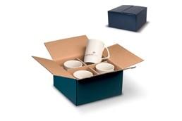 Verpackung für 4 Tassen:   Geschenkverpackung für vier Becher.