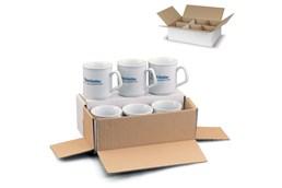 Verpackung für 6 Tassen:   Geschenkverpackung für sechs Becher.