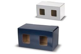 Verpackung mit Fenster:   Geschenkverpackung mit Fenster für zwei Becher.