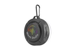 Bluetooth Lautsprecher Splash-proof: ABS-Bluetooth-Lautsprecher (V 4,2JL) mit Gummibezug, Karabinerhaken und abnehmba