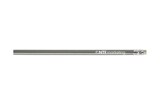 Bleistift Tropic: Ungespitzter Holz (HB) Bleistift mit Radiergummi. Mit glänzendem Lack oder unlac