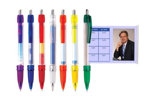 Info-Kugelschreiber II:   Kein Werbeartikel lässt Ihnen im Verhältnis zur Größe so viel Platz für Ihre
