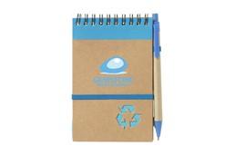 Nachhaltige Werbeartikel Notizbuch M:   Umweltfreundlich! Mininotizbuch aus recyceltem Material mit ca. 70 Blatt cre