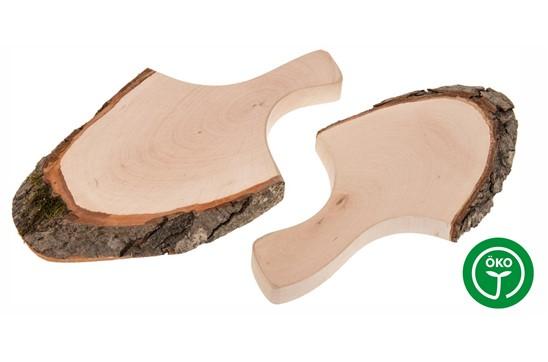 BARK Schneidbrett mit Rinde und Griff 18 - 23 cm:   Hochwertiges Erlenholz-Schneidbrett mit Rinde und Griff. Da dieses edle Holz