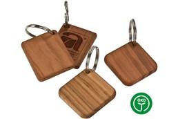 SMART Schlüsselanhänger:   Schlüsselanhänger geöltem Kirschholz. Made in Germany! Erhältlich quadratisc