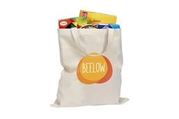 Einkaufstasche Robust kurze Henkel:   Klassische Einkaufstasche aus 100% dicht gewebter Baumwolle (135g/m²). Super
