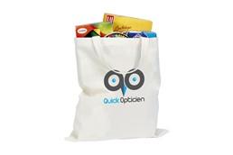 Einkaufstasche kurze Henkel:   Klassische Shoppingtasche aus 100% dicht gewebter Baumwolle (100 g/m²). Mit