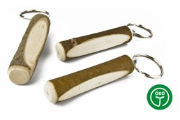 GASTEN Schlüsselanhänger: Rindenstämmchen als Schlüsselanhänger aus Haselnussholz. Made in Germany!