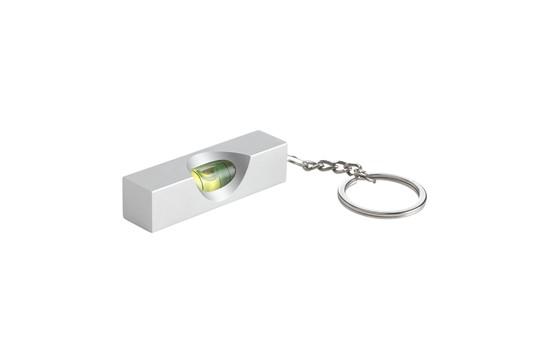 Wasserwaage Schlüsselanhänger: mit einem Alu-Überzug