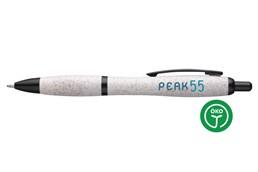 -10% AKTION!!! Bis 27.03.2020 - ATHOS STRAW Cycled Kugelschreiber:   Umweltfreundlicher, blauschreibender Kugelschreiber, hergestellt aus 50% PP