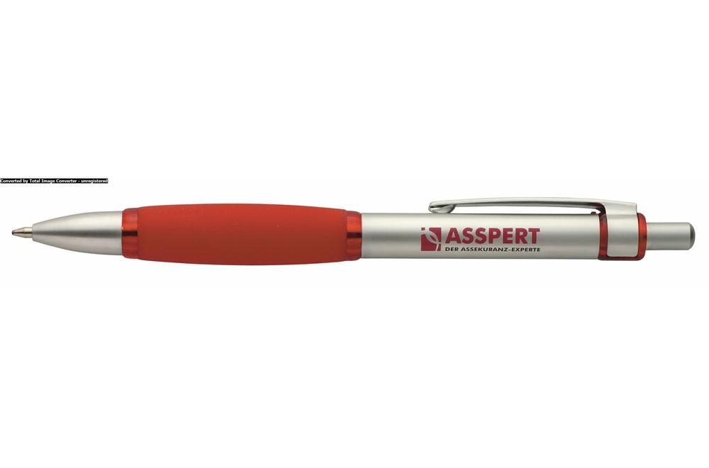 GANGA Grip Metal BP: Klassischer Metallkugelschreiber in matter Farbe und Gummi-Griff. Extra große Dr