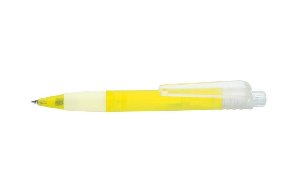 EL GRANDIOSO: Druckkugelschreiber im BIG-Format mit Gummi-Manschette in transparenten Farben (