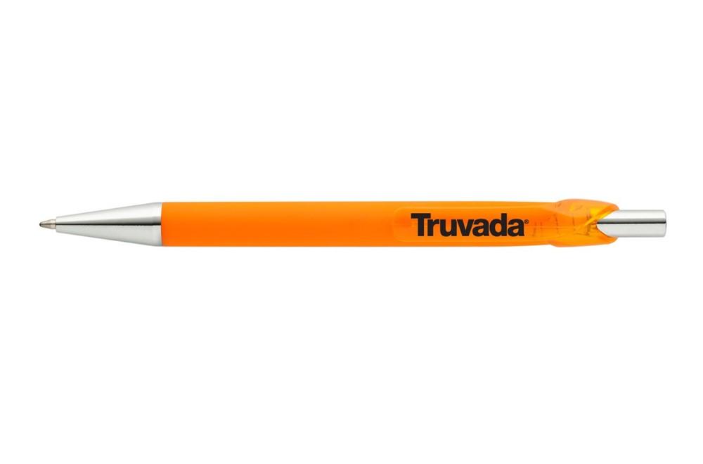 DELIA SOFT: Edler Synthetik-Kugelschreiber mit Soft-Touch-Oberfläche für ein angenehmes Schr