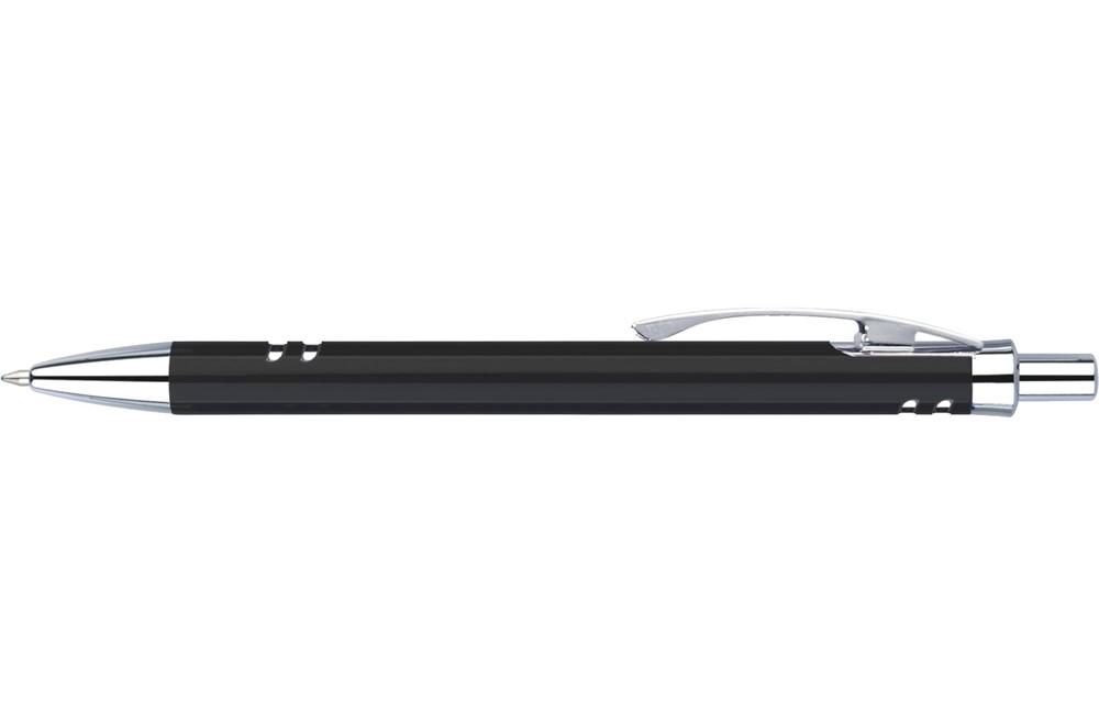 KRK1 Alu: Edler Druckkugelschreiber aus Metall mit Metall-Mine. Extra große Druckfläche!