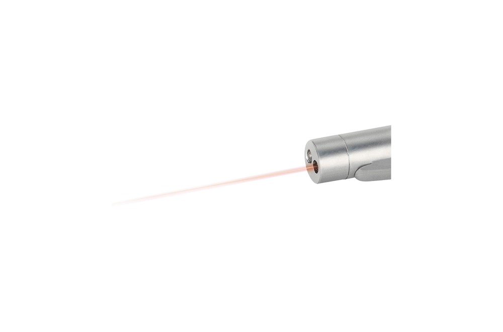 Laser&Light Schreibset: Kugelschreiber mit blauer Mine, rotem Laserpointer und hellweißer LED-Lampe. Ent