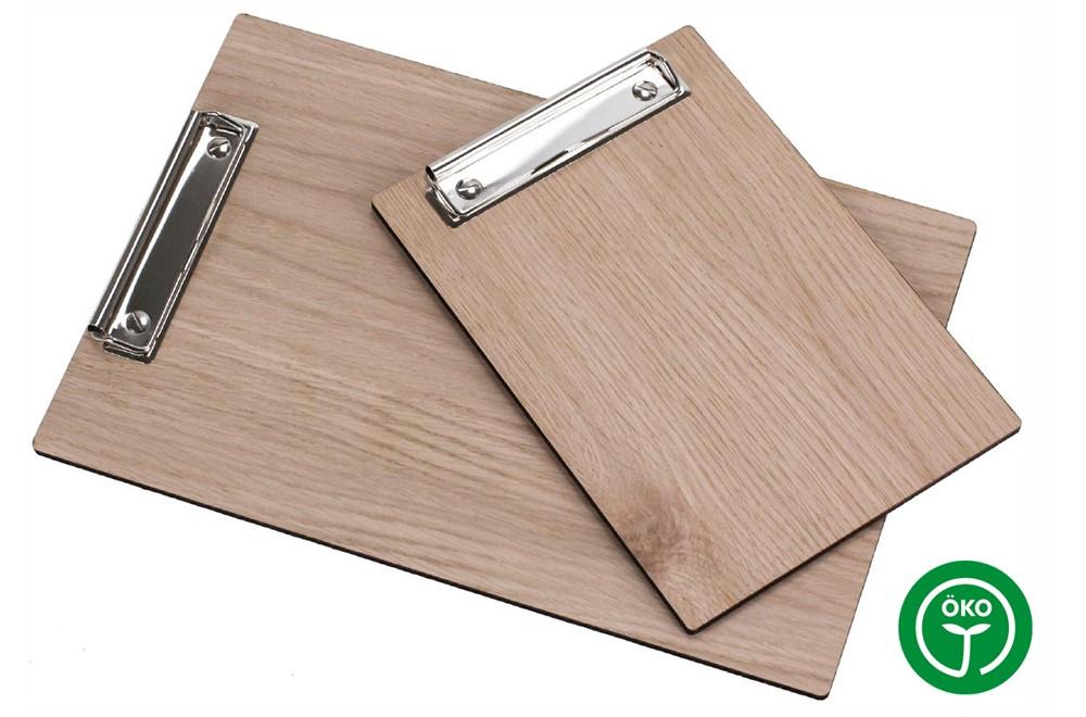 OAK Klemmbrett A4:   Klemmbrett/Clipboard aus 5mm aus Schichtholz - Eiche roh. Auch als Speisekar