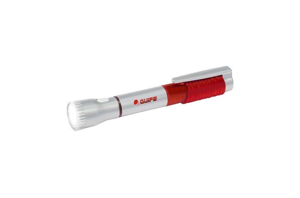 Write and Light: Praktisches Tool 2in1: Taschenlampe und blauschreibender Kugelschreiber mit Bele