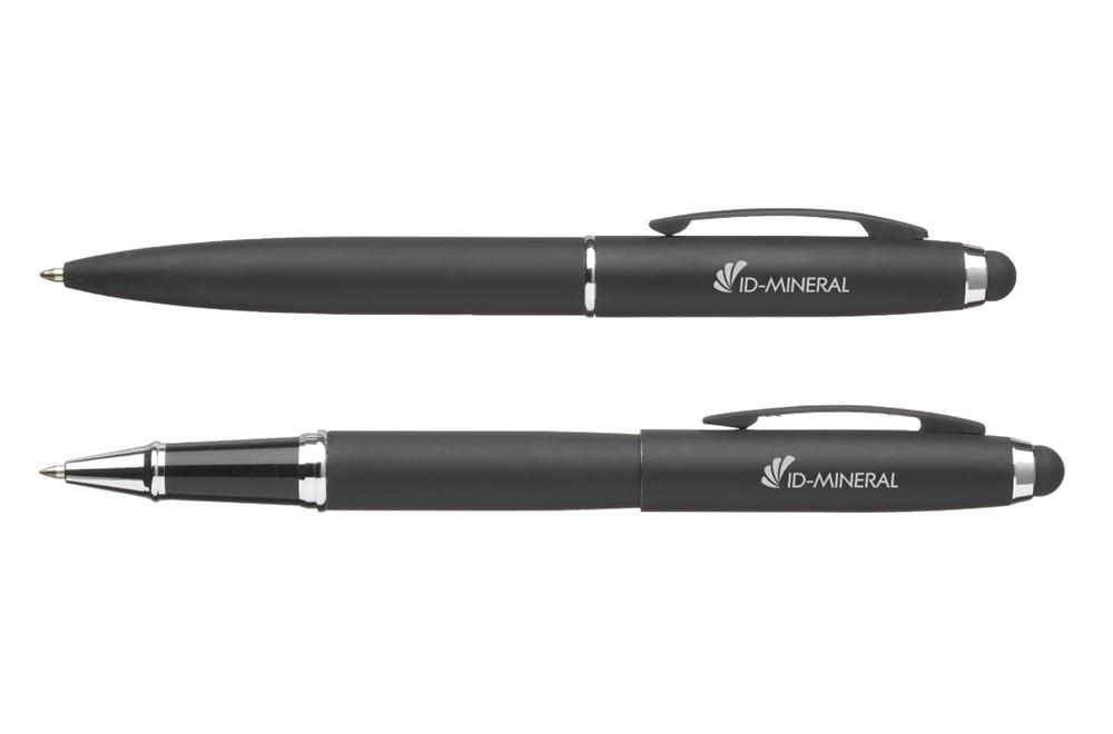 Schreibset Denver: Praktisches Schreibset mit Kugelschreiber (blaue Mine) mit Dreh-Klick-Machanismu