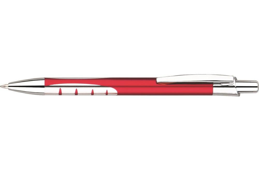 COR Alu: Edler Druckkugelschreiber aus Metall mit Metall-Mine. Extra große Druckfläche!