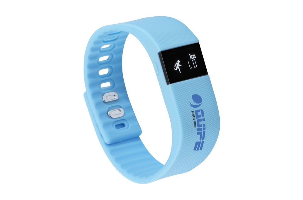 TEAM Activity Tracker: Bluetooth-Activity Tracker in einem Silikon-Armband mit verstellbarem Verschluss