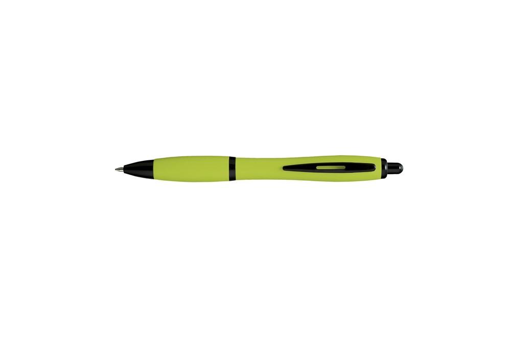 Thos Neon Kugelschreiber: Kugelschreiber in auffallender Farbe. Mit schwarzen, blauschreibend