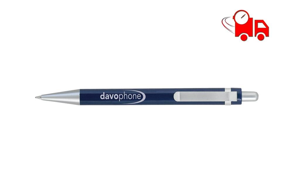 Boost Kugelschreiber: Kugelschreiber mit einem metallendem Clip, matt, blauschreibend