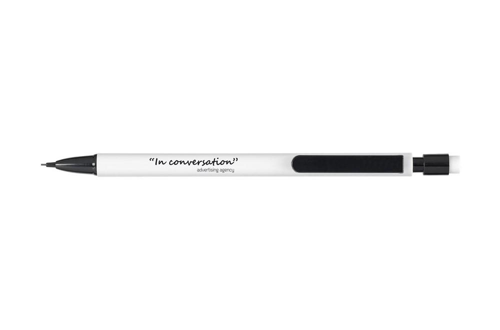 Bleistift Press: Druckbleistift mit Radiergummi und 3 HB Bleistiftminen (0,7 mm).