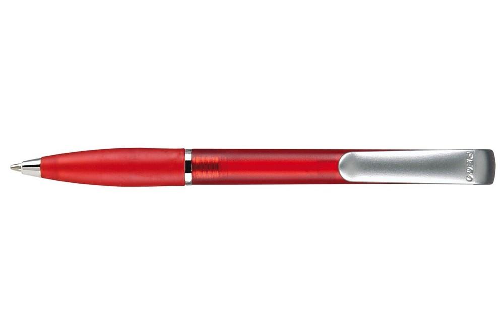 BONY: Druckkugelschreiber mit transparent gefrosteter Schaftoberfläche und transparent