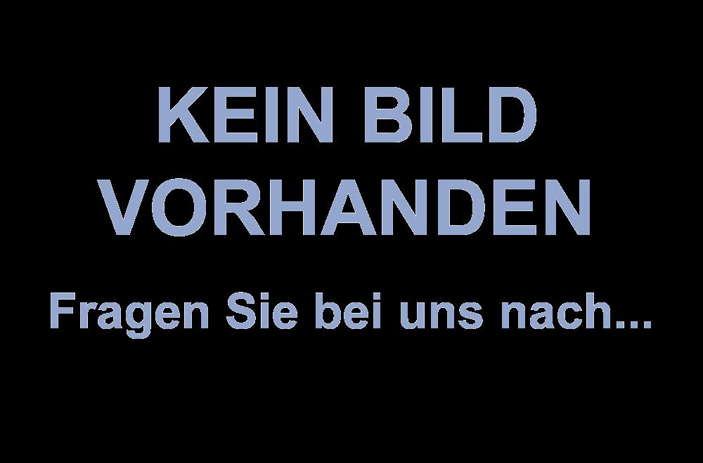 Crok Kugelschreiber: Blauschreibender Kugelschreiber mit transparentem Gehäuse und silberfarbenen Akz