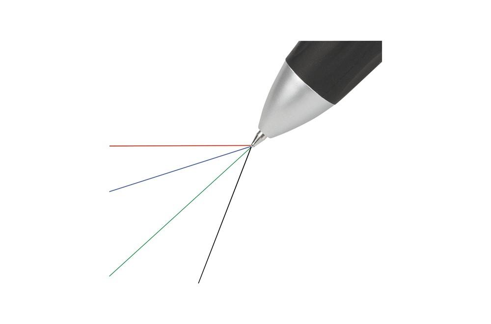Qat Kugelschreiber: 4-Farbenkugelschreiber mit blauer, grüner, roter und schwarzer Mine. Ein grifffe