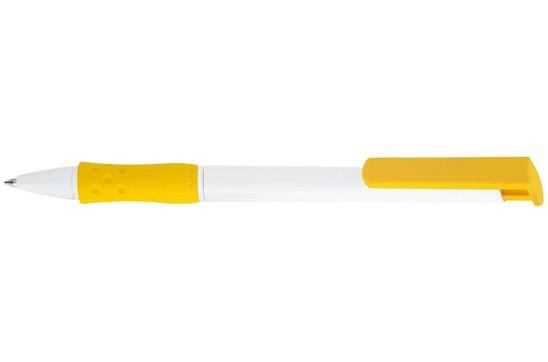 FUTURISTIC PEN: Druckkugelschreiber mit softiger farbiger Gummi-Manschette im attraktiven Design