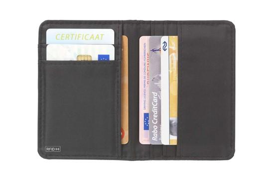 RFID Carda Kartenhalter: RFID Kreditkartenhalter aus gewebtem Polyester mit Nylon Innerem und 7 Kreditkar