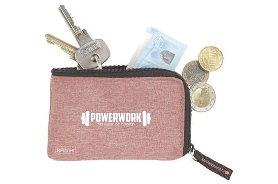 RFID KeyHolder:   Polyester RFID Schlüsseletui mit Nylon Innenseite. Mit Reissverschluss, Schl