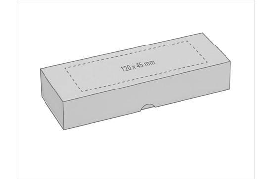 Etui Carbon für 2 Schreibgerät: Klappetui im Carbonfaser-Look mit Magnetverschluss für 2 Schreibgeräte. Kartonsc