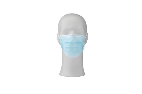 50 Stk MNS- Masken/ Packung, optional mit Druck Überverpackung:   Hygienische 3-Lagen-Mundmaske Typ II zum einmaligen Gebrauch. Mit elastische