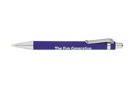 ARTIK OPAK: Druckkugelschreiber mit Kunststoff-Schaft Opak mit matten Metallbeschlägen, lieg
