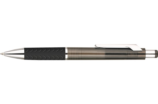 RODO Grip: Edler Kunststoffkugelschreiber mit gummiertem Griff. Extra große Druckfläche!
