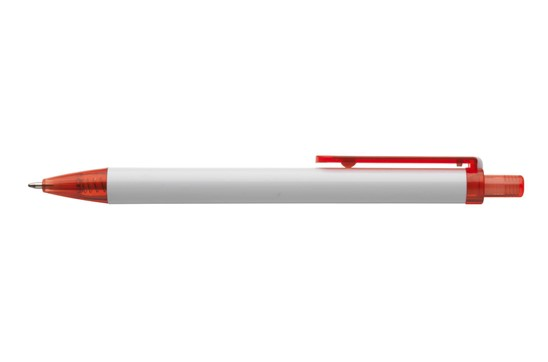 Bianco Kugelschreiber: Kugelschreiber mit transparentem, eingefärbtem Druckknopf, blaubschreibend, auff
