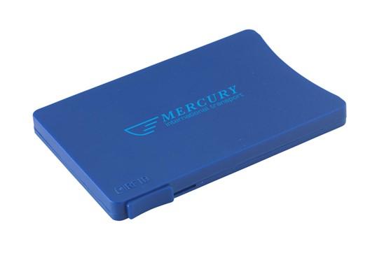 RFID Visitor Slider:   Praktisches RFID-blockierende Multi-Kartenetui aus Kunststoff mit praktische